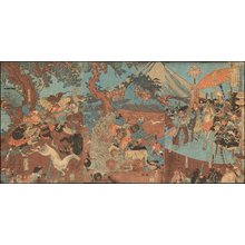 Utagawa Kuniyoshi: Doji Yoshiharu killing giant boar - Asian Collection Internet Auction