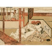 Isoda Koryusai: Couple being observed - Asian Collection Internet Auction