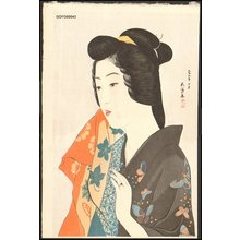 Hashiguchi Goyo: Woman at a Hot Spring Resort - Asian Collection Internet Auction