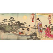 Toyohara Chikanobu: Triptych - Asian Collection Internet Auction