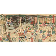 Kunihisa II: Triptych - Asian Collection Internet Auction