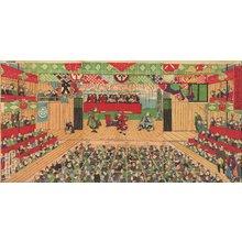 歌川国貞三代: MORITA... (Morita Theater...) - Asian Collection Internet Auction