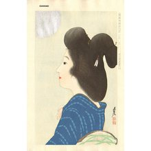Igawa, Sengai: Full Moon (printed with mica), August - Asian Collection Internet Auction