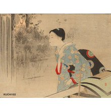 Mizuno Toshikata: Beauty and palanquin - Asian Collection Internet Auction