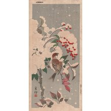 Jo: Sparrow and holly - Asian Collection Internet Auction