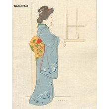 Attributed to Ota Saburo: Beauty at window - Asian Collection Internet Auction