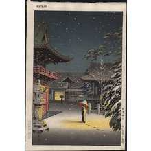 風光礼讃: Nezu Shrine in Snow - Asian Collection Internet Auction