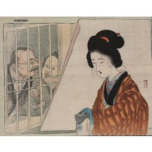 Tomioka Eisen: Beauty with laquer box - Asian Collection Internet Auction