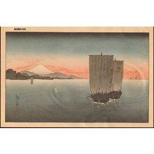 古峰: Fuji and sail boat - Asian Collection Internet Auction