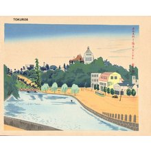 Tokuriki Tomikichiro: National Diet Building - Asian Collection Internet Auction