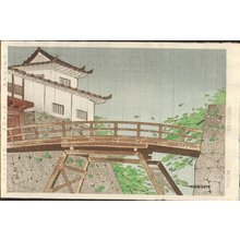Nishiyama, Hideo: Hikone Castle in Early Summer Rain - Asian Collection Internet Auction