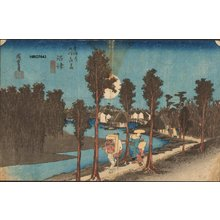 Utagawa Hiroshige: Station 13 - Twilight at Numazu - Asian Collection Internet Auction