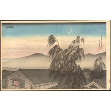 Hashiguchi Goyo: Evening Moon in Kobe - Asian Collection Internet Auction