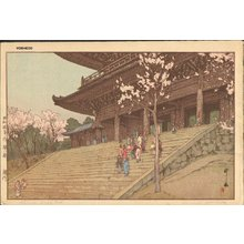 吉田博: Chinon'in Temple Gate - Asian Collection Internet Auction