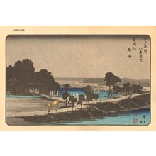 Utagawa Hiroshige: Eight Views of Edo Environs, Azumi-no Mori - Asian Collection Internet Auction