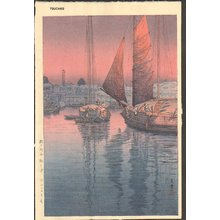 風光礼讃: Sunset at Tomonotsu Island - Asian Collection Internet Auction