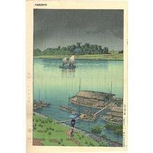 Kawase Hasui: Spring Rain at Arakawa River - Asian Collection Internet Auction