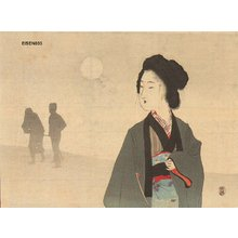 Tomioka Eisen: Beauty in moon light - Asian Collection Internet Auction