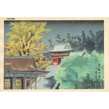 Tokuriki Tomikichiro: TSURUGAOKA HACHIMAN GU Shrine - Asian Collection Internet Auction