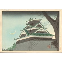 Tokuriki Tomikichiro: Kumamoto Castle - Asian Collection Internet Auction
