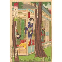 Toyohara Kunichika: Restaurant YAOZEN in UENO - Asian Collection Internet Auction