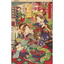 Utagawa Fusatane: SAGAWA and SUIZUE of KINPEIRO - Asian Collection Internet Auction