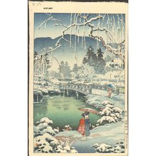 風光礼讃: Kyoto Maruyama, Spring Snow - Asian Collection Internet Auction