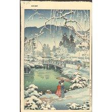 Tsuchiya Koitsu: Kyoto Maruyama, Spring Snow - Asian Collection Internet Auction