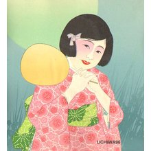 Unknown: BIJIN (beauty) with fan - Asian Collection Internet Auction