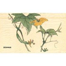 柴田是眞: Cucumber flowers - Asian Collection Internet Auction