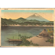 Signature not readBR> SERIES: Publisher Kyoto Hanga In: Mt. Fuji from lakeside - Asian Collection Internet Auction