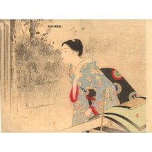 Mizuno Toshikata: BIJIN getting out of palanquin - Asian Collection Internet Auction