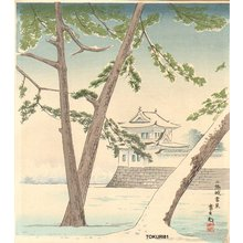 Tokuriki Tomikichiro: Nijyo Castle in Winter - Asian Collection Internet Auction