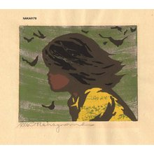 Nakayama, Tadashi: Girl in Wind - Asian Collection Internet Auction